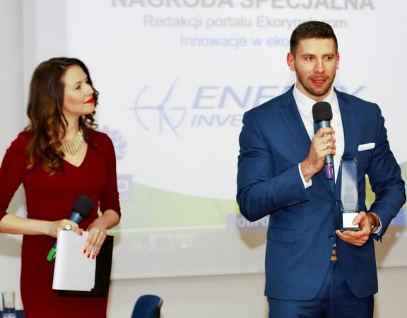 Prezes Zarządu Marcin Orkisz odbiera wyróżnienie Eko Inspiracja 2015