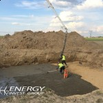Chudy beton pod fundamenty elektrowni wiatrowej