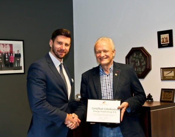Jacek Piechota Prezes Polsko-Ukraińskiej Izby Gospodarczej i Marcin Orkisz Prezes Zarządu Energy Invest Group